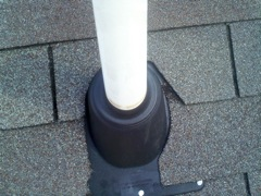 Woodstock's Best Gutter Cleaners' Certainteed Certified roofers can replace your cracked and rotted vent boots.