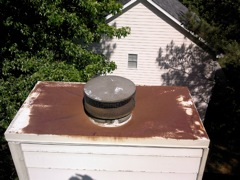 Woodstock's Best Gutter Cleaners' Certainteed Certified roofers can install or replace your custom chimney pan.