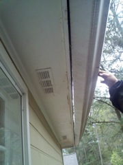 Woodstock's Best Gutter Cleaners can repair gutter problems.
